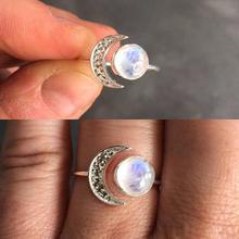 Anillos de piedra Natural de Luna y Sol de moda para mujer Dedo de fiesta Simple regalo para niñas, joyería Dropshipping