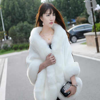 2019 Women Winter Casual Occasion Wrap Bridal Wrap Jackets Winter Warm Faux Fur Wedding Coat - DISCOUNT ITEM  15% OFF All Category