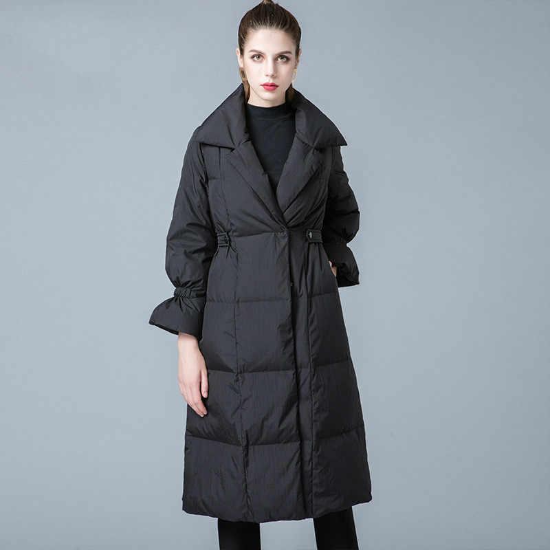 90% 白アヒルダウンジャケット女性の冬のコート 2019 ロング厚いフグジャケット韓国冬のジャケット 8841211 KJ2629