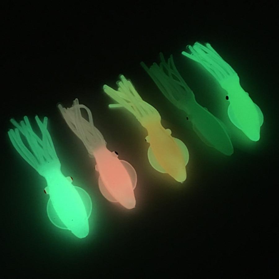 3*10.5cm/12g Octopus Squid Fishing Lure Glow Luminous Soft Octopus Skirt Pesca Artificial Bait Tuna Trolling Sea Fishing