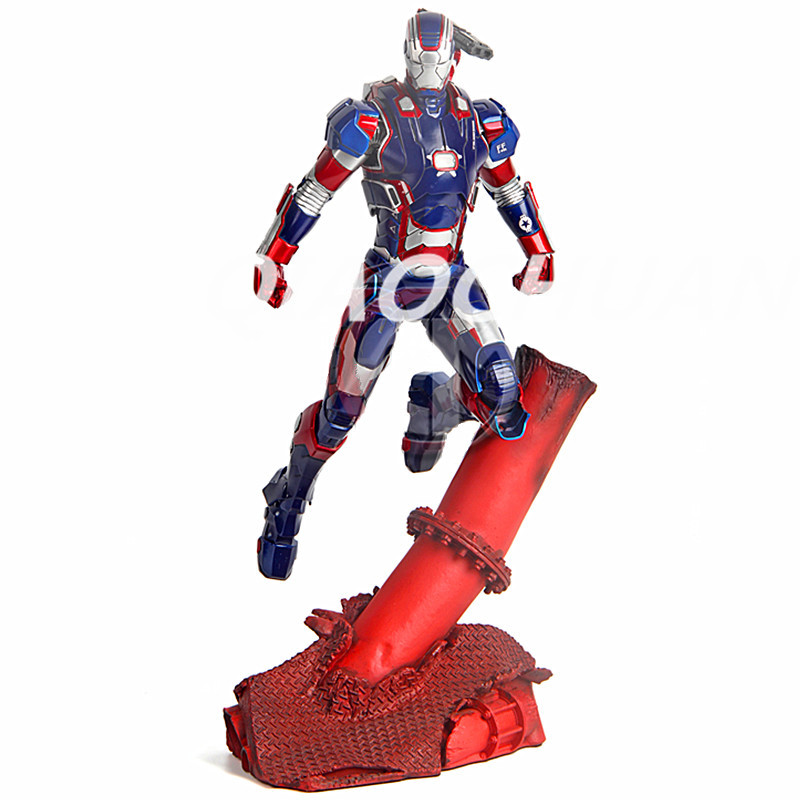 Captain America: Civil War Statue Iron Man Bust Superhero Iron Patriot Toni Ho Full-Length Portrait Resin With LED Light Toy 1 6 scale male head sculpts model toys downey jr iron man 3 captain america civil war tony with neck sets mk45 model collecti f