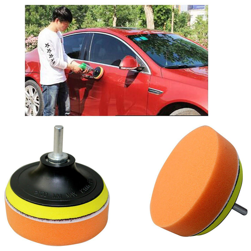 5Pcs/Set 4 inch Sponge Car Polishing Buffing Pad Auto Waxing Pads Drill Adapter Kit for Car Polisher Cleaning Wash Tools