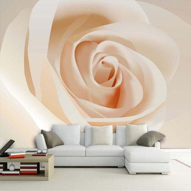Moderne Einfache Weiße Rose 3D Stereo Wandbild Tapete Wohnzimmer  Schlafzimmer Gemütliche Design Decor Fresko Tapete Papel