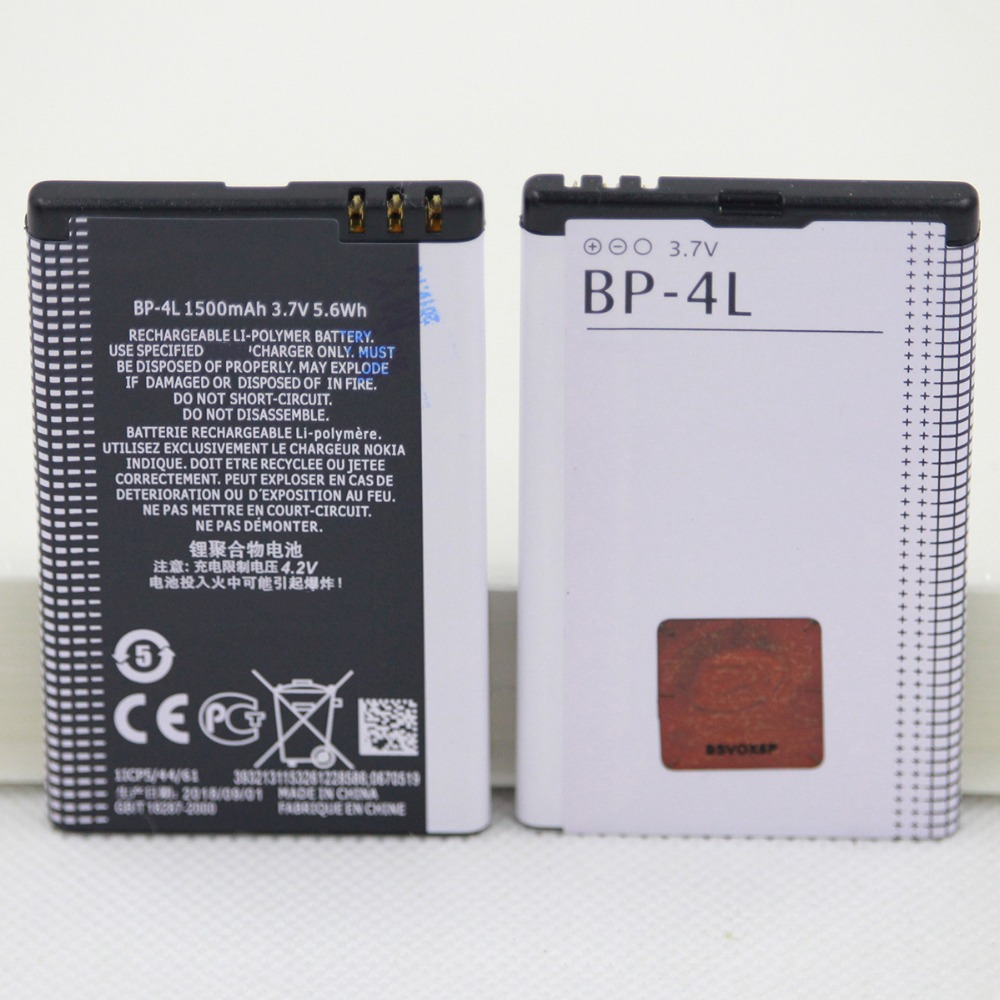 10pcs/lot Mobile Phone replacement Battery BP-4L For Nokia E61i E63 E90 E95 E71 6650F N97 N810 E72 E52 BP 4L Batteries 1500mAh image