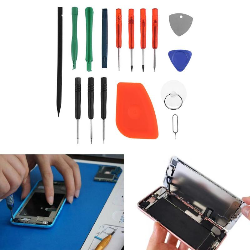 16 in 1 Multifunction Screwdriver Set Plastic Spudger Pry Opening LCD Screen Repair Tools Kit for Phone PC Table Laptop
