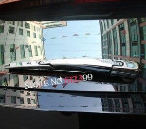 Image 3 - Car Styling 3 sztuk ABS Chrome zewnętrzna wycieraczka szyby tylnej pokrywa naklejki na akcesoria dla Peugeot 5008 2017 2018