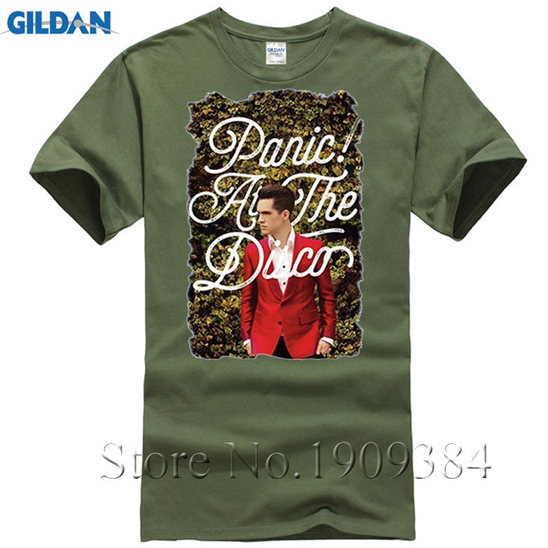 Fashion T Shirt menS Short Short O-Neck Panic At The Disco Panic At The Disco clothes women size xxxl T Shirts Short Sleeve