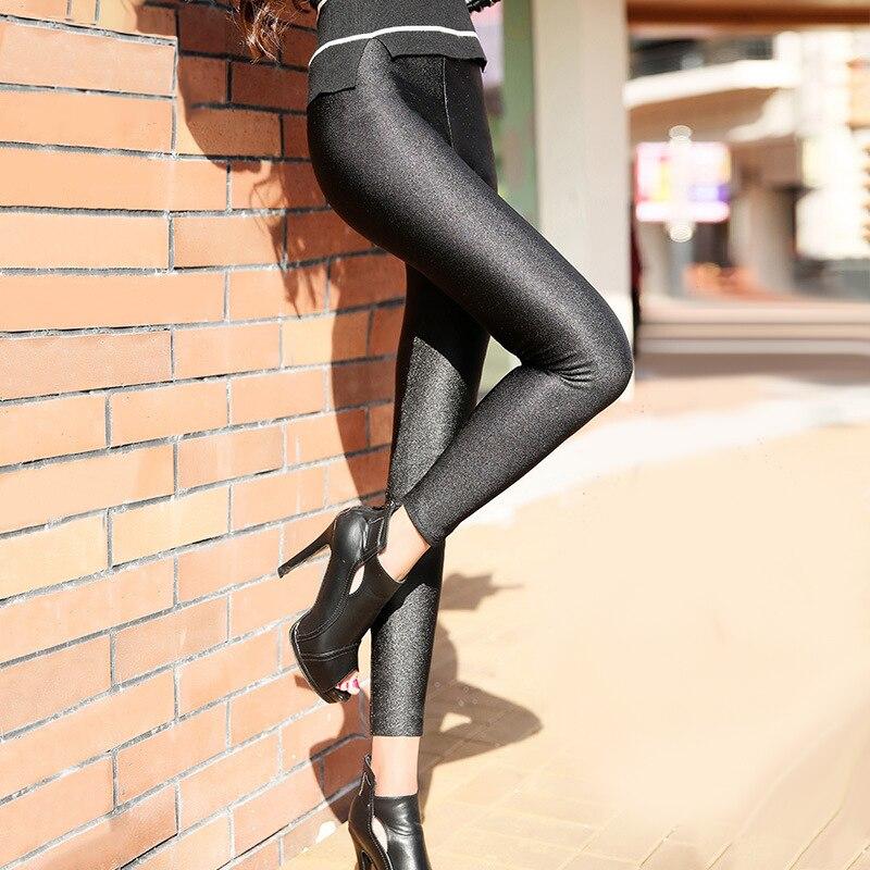 Casual Leggings Pants Streetwear Black Plus-Size Women High-Elastic-Material Fiteness