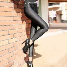 Poliestere casual Leggings Per Le Donne di Alta Elastico Materiale Nero Fiteness Matita Leggins Pantaloni Streetwear Legging Più Il Formato
