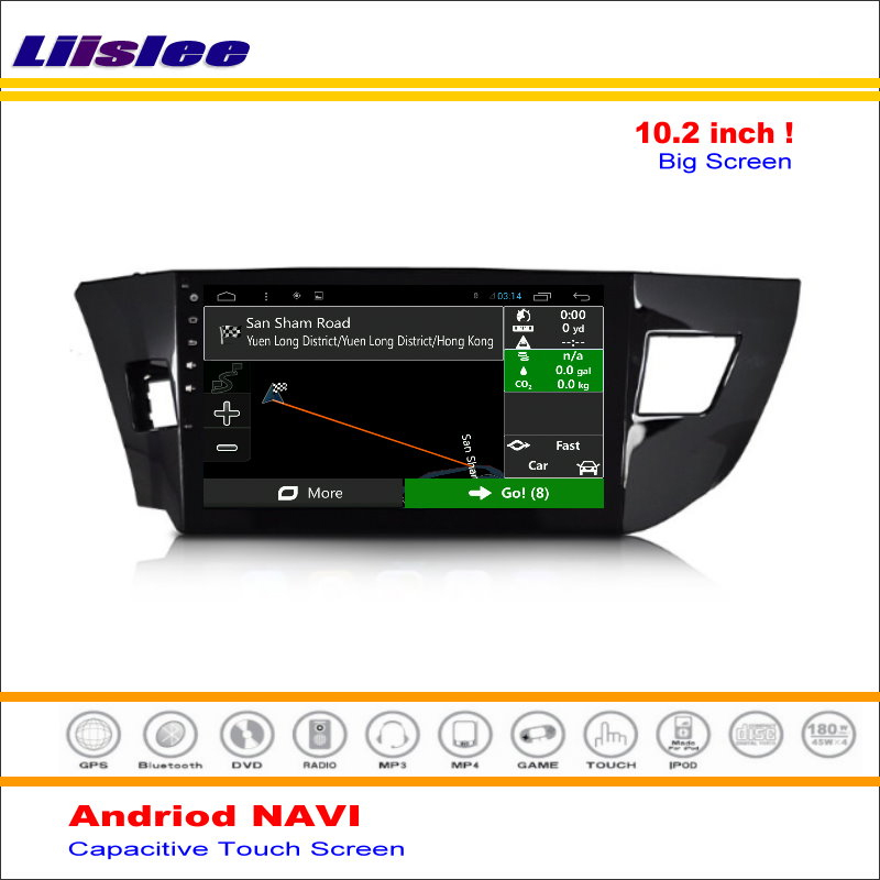 Liislee Car Android GPS Navigation System For Toyota Corolla ( E170 ) / Levin 2013~2016 Radio Stereo Multimedia No DVD Player