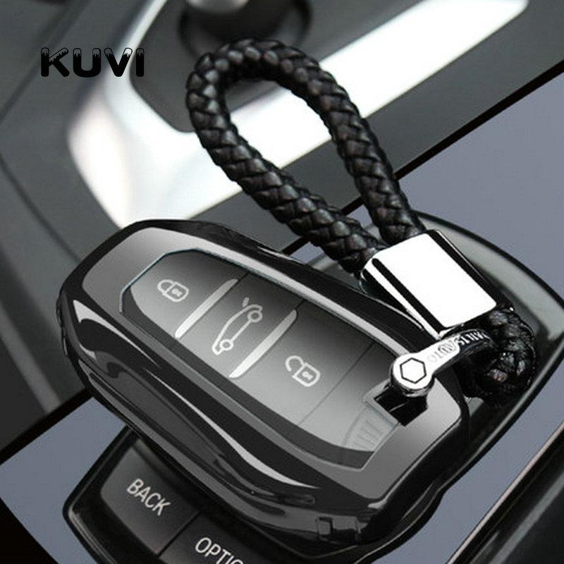 Tpu coche caso clave cubierta carcasa para mando a distancia sin llave la piel por 2019 Peugeot 208, 308, 508 para 2019 Citroen C4 Picasso DS3 DS4 DS5 DS6