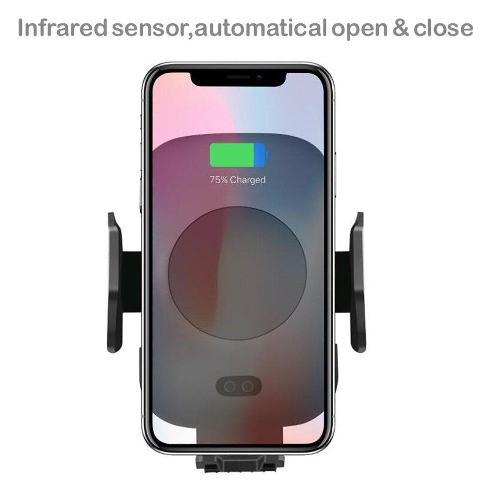 Yanchep Moblie teléfono QI rápido cargador inalámbrico para el iPhone X 8 más cojín de carga inalámbrico soporte de coche para Samsung galaxy S9 S8