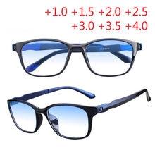 75ec489da2f Black Red Frame Men Reading Glasses Blue Green Double film Eyeglasses Anti  rays Presbyopia Eyewear +1.5 +2.0 +2.5 +3.0 +3.5 +4.0
