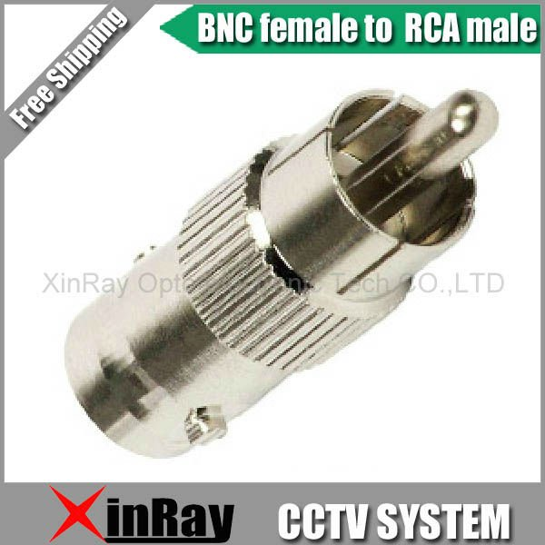 BNC female to RCA male Connector Adapter Plug Adapter for CCTV system 20QTY,Camera Accessories XR-AC12 1 pair rca male female for cctv phono rca male plug rca to 2pin spring connector cctv cat5 to camera cctv video bnc balun