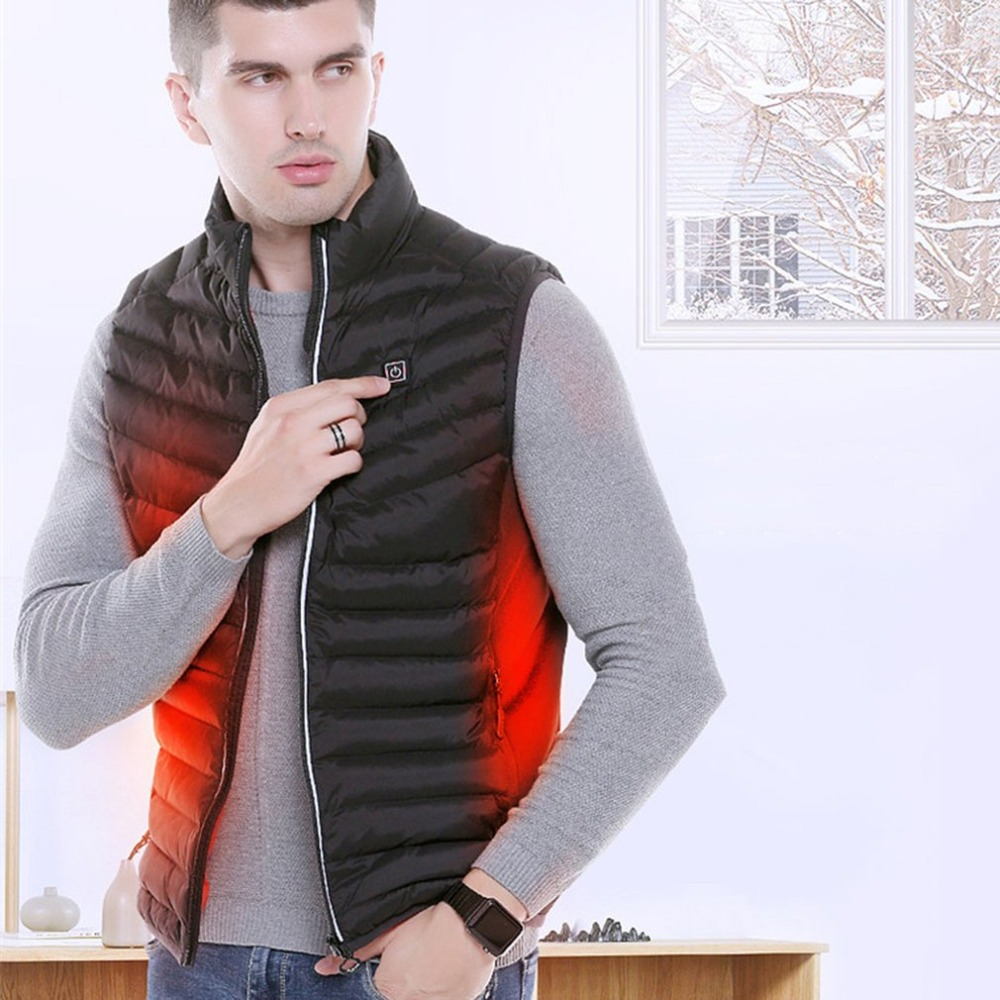 Mens Electric Heater Heating Vest USB Security Intelligent Thermostat Winter Vest Constant Temperature Winter Warm VestMens Electric Heater Heating Vest USB Security Intelligent Thermostat Winter Vest Constant Temperature Winter Warm Vest