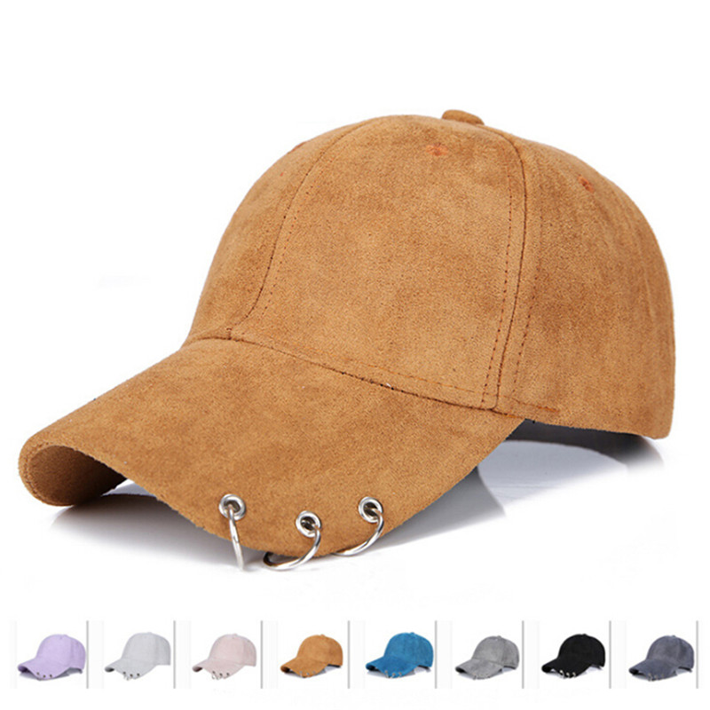 2018 new winter unisex solid Ring Safety Pin curved hats baseball cap men women Suede snapback caps casquette gorras feitong summer baseball cap for men women embroidered mesh hats gorras hombre hats casual hip hop caps dad casquette trucker hat