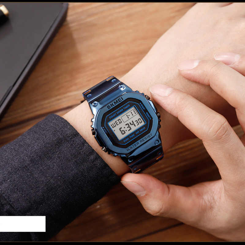Montres hommes électroniques Led numérique hommes montres Top marque de luxe homme horloge étanche montre militaire reloj hombre SKMEI 2019