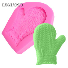 lovely 3D Gloves Silicon Mould Food Grade Jelly Pudding Baking Silicone Chocolate Molds Kitchen Bar fimo Soap Cake Decorations