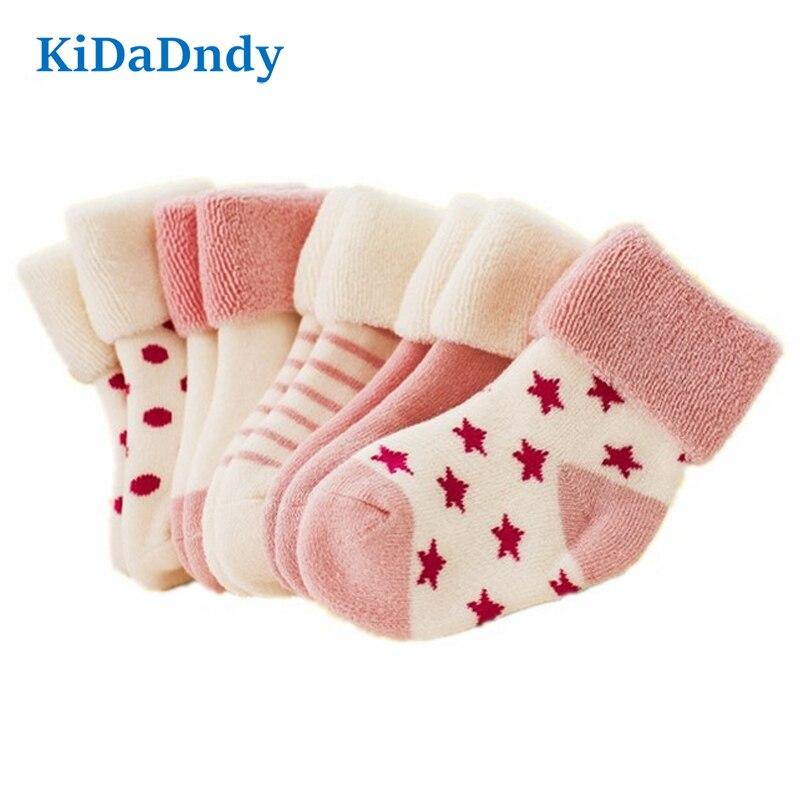 7174a5908ef1e Детские носки для новорожденных 0-3 лет, 5 пар сумок, распродажа, хлопковые  носки для малышей, утепленные теплые детские носки, LCH106
