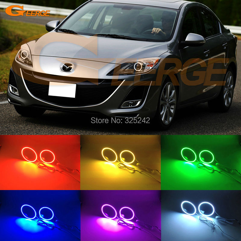 For mazda 3 mazda3 BL SP25 MPS 2009 2010 2011 2012 2013 Excellent Multi-Color Ultra bright RGB LED Angel Eyes kit for mazda 3 mazda3 bl sp25 mps 2009 2010 2011 2012 2013 excellent ultra bright illumination ccfl angel eyes kit