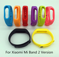 Envío libre para miband xiaomi mi banda 2 versión 2 pulseras de silicona para Mi Banda 2 Pulsera Inteligente 8 Color para Xiao mi Banda 2
