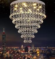 Modern lustre Crystal Chandelier Large K9 Crystal Lighting Fixtures Hotel Projects Staircase Lamps Restaurant Cottage Li