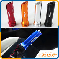 RASTP MOMO RACING Universal Auto Car Aluminum Hand Brake Sleeve Handbrake Handle Hand Protector Cover Free