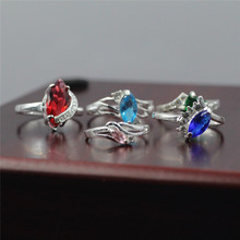 5pcs/bays 925 sterling silver inlay zircon ring Birthday present South Korea adorn article character charm female ring jz-679