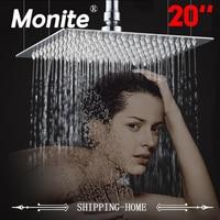 20 Inch Shower Head Ceiling Square Stainless Steel Rainfall Shower Head Top Shower For Bathroom Rain Shower Head Sprinkler