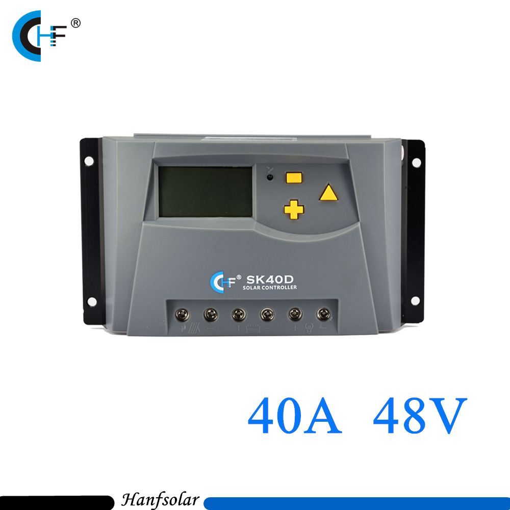40A 48V Big Power PWM Solar Charge Controller with LCD Display for Solar Panel System home use