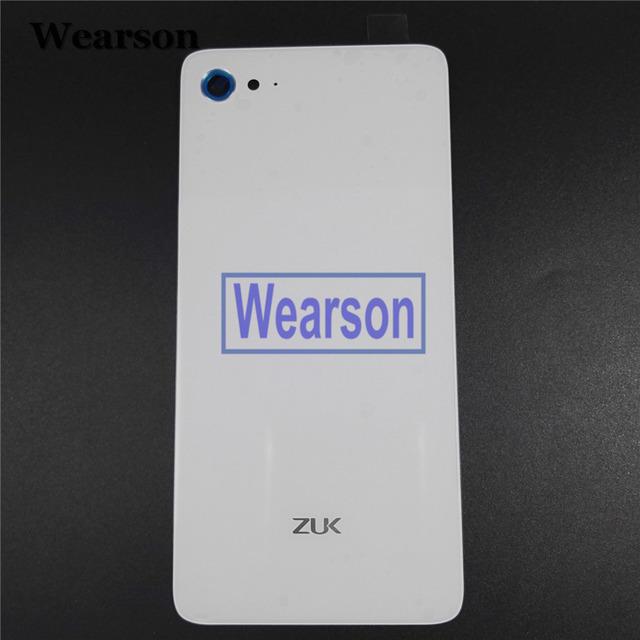 Para lenovo zuk z2 plus z2 além de vidro da tampa da bateria tampa traseira + cola 100% original novo frete grátis com número de rastreamento