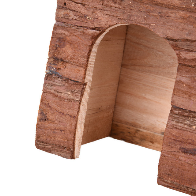 New Wavelike House For small Pets Wooden bed Hamster squirrel Guinea pig Chinchilla House Toys Fragile goods hamster accessories