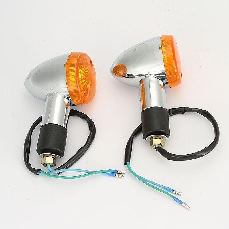 2 PCS Motorcycle Amber Bullet Turning Signal Lights For Honda Shadow Sabre VT VF 700 750 1100