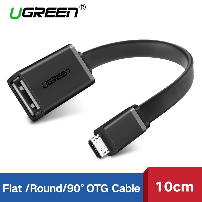 Ugreen adaptador de Cable Micro USB OTG para Xiaomi Redmi Note 5 Conector Micro USB para Samsung S6 Tablet Android USB 2,0 adaptador de OTG