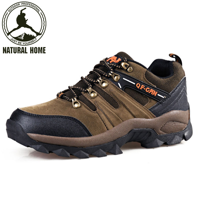 ФОТО NaturalHome Men Waterproof Boots Sports Hiking Shoes Outdoor Athletic Shoes Mountain Boots for Hunting Travel Shoes Boot