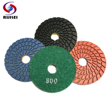 3 Spiral Type Flexible Wet Polishing Pads/diamond polishing pads for granite and marble/+7pcs Wholesale (3DS2-1)
