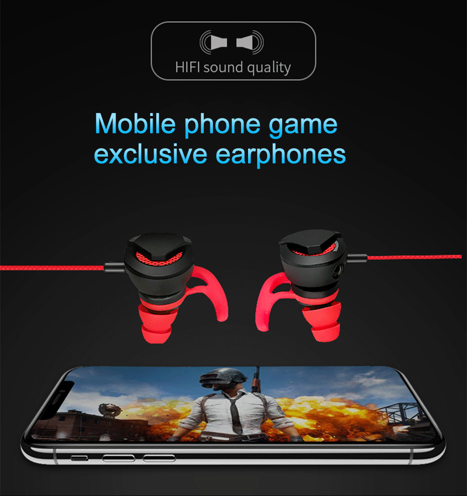 Wired Earphone With Micphone For Computer Mobile Phone Games Wired Headset Hifi Earphone In-ear Earphone Wired Gaming Headset   (2)