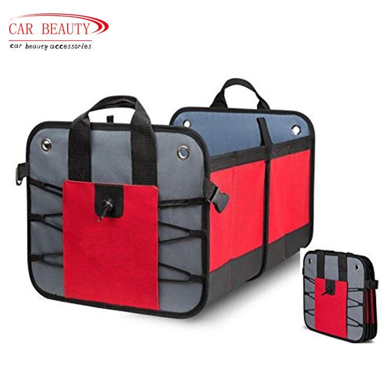Organisateur de coffre de voiture Construction robuste pour voiture SUV camion monospace RV boîte de rangement de voiture boîte d'économie d'espace Auto organisateur sac