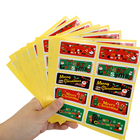 100pcs/lot Cute Santa Claus Snowman elk Merry Christmas Gift Kraft Sticker Labels Kitchen Sweets Party Seal Stickers
