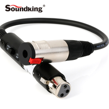 Soundking Audio Impedance Conversion Line XLR(F)-6.35 Male Cable Jack 2017 Microphone Leader High Quality C52