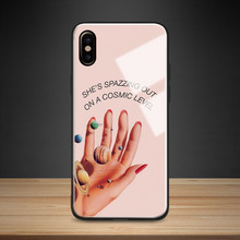 Creativity quotes Planets Tempered Glass Soft Silicone Phone Case Shell Cover For Apple iPhone 6 6s 7 8 Plus X XR XS MAX