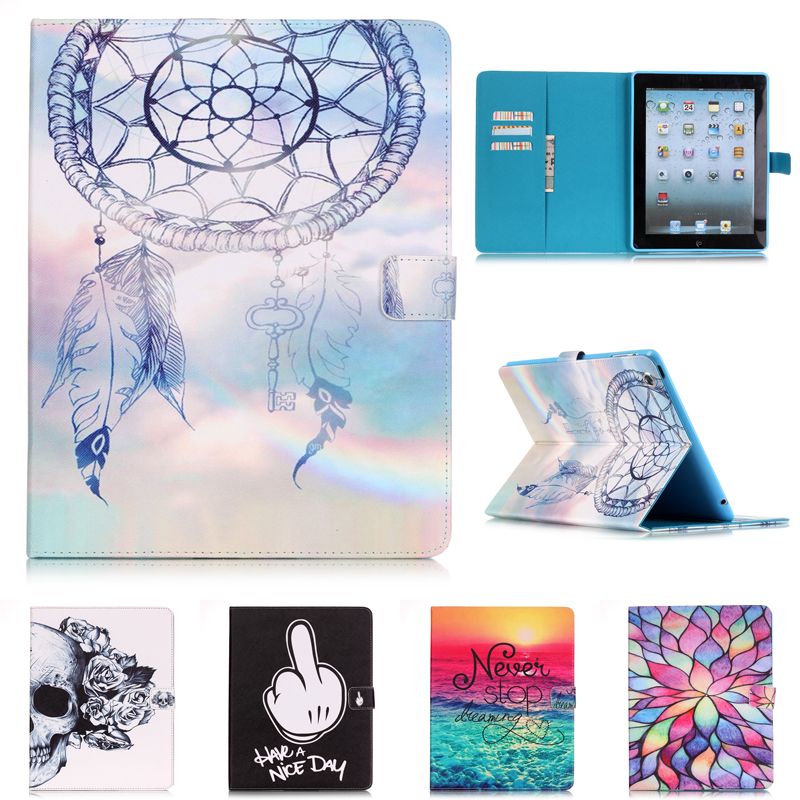 For Apple iPad 2 3 4 9.7  Tablet Case for ipad PU Leather Stand with card slot Protector cover