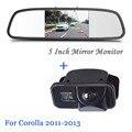 Polegadas HD Espelho Retrovisor Do Carro Do Monitor de Entrada de Vídeo 800*480 12 V com CCD de Visão Traseira Do Carro Câmera de Estacionamento Cam Para Toyota/corolla