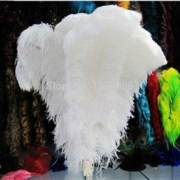 "wholesale 100pcs/lot 14-16""  35-40cm   White fluffy Ostrich Feather Plume wedding decoration"