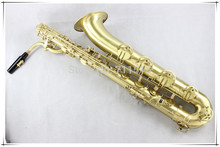 Professional Baritone Saxophone Copy Of Matte Gold With Case Free Shipping