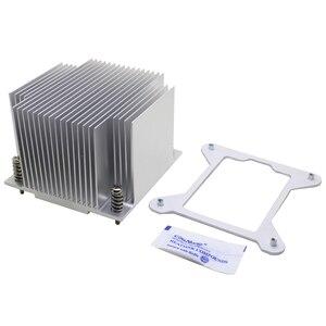 Image 5 - 2U server di CPU di raffreddamento del radiatore di Alluminio del dissipatore di calore per Intel 1150 1151 1155 1156 i3 i5 i7 computer Industriale di raffreddamento Passivo