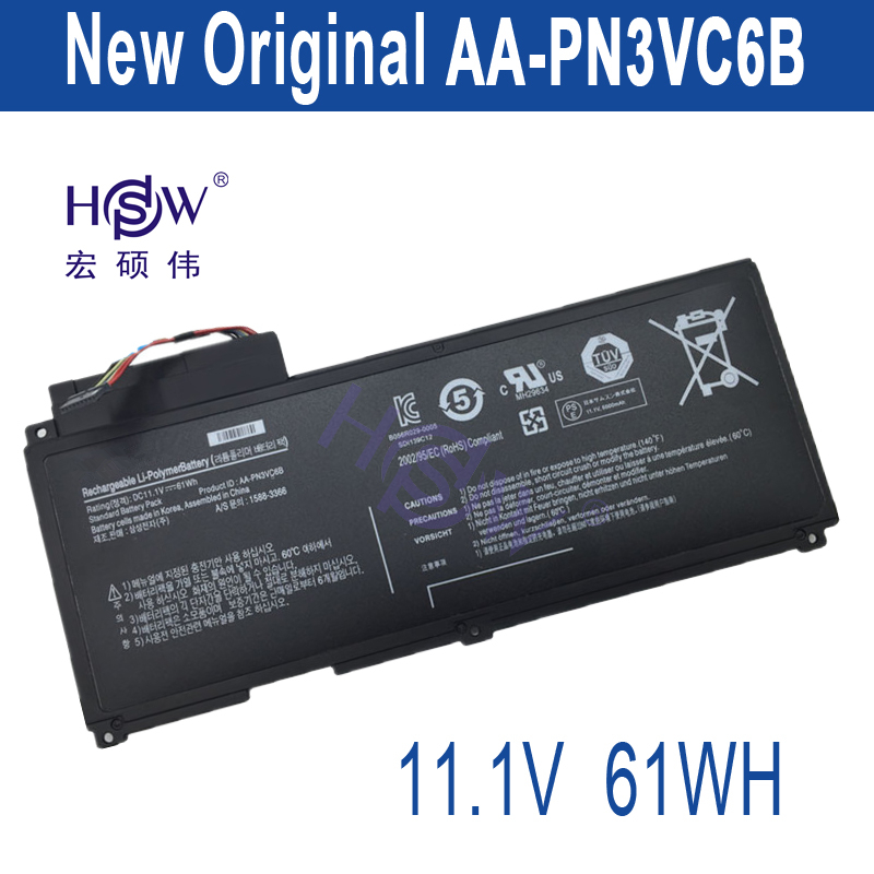 HSW New AA-PN3VC6B Battery for Samsung QX410 QX411 SF310 SF410 SF510 QX510 AA-PN3NC6F BA43-00270A bateria akku for samsung qx410 qx411 laptop keyboard with c shell