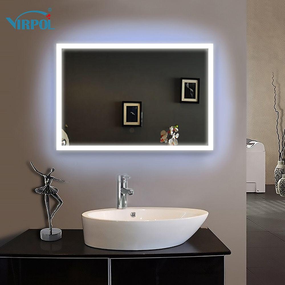 1 unid de 70X80 cm enmarcado Marco led iluminado baño espejo espejos ...