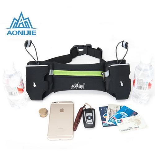 AONIJIE Unisex Brand Hydration Belts Bottle Holder Belt Running <font><b>Bag</b></font> Outdoor Climbing Waist <font><b>Bag</b></font> <font><b>Mobile</b></font> <font><b>Phone</b></font> Water Bottle BeltBag