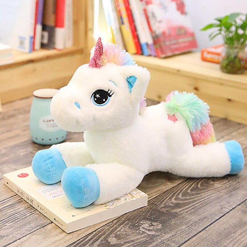40 60cm Baby play Unicorn Stuffed Animals Plush toy Unicorn Animal Horse High Quality Cartoon Gift For Children gifts in Stuffed Plush Animals from Toys Hobbies